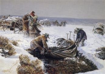 Martin Handcart Burial