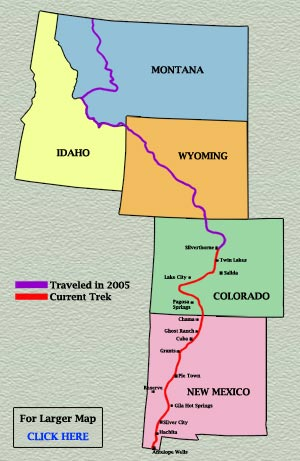 Odyssey Continental Divide National Scenic Trail CDNST - Us continental divide map